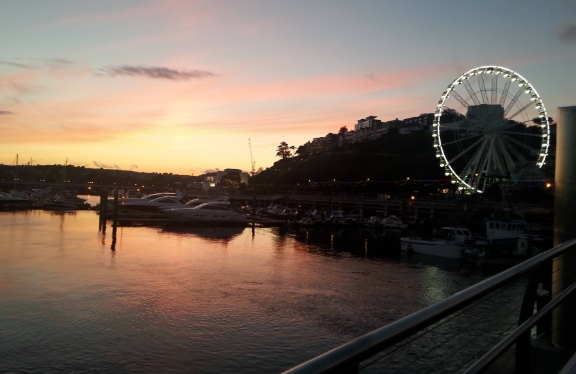 Sunsetting Over Torquay Harbour