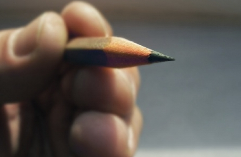 Pencil in Hand.