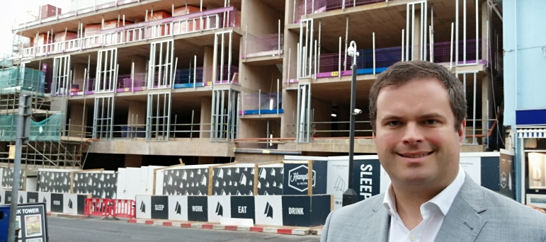 Kevin at the Torwood Street Development